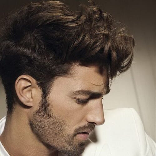 Front Curl Modern Hairstyles for Men
