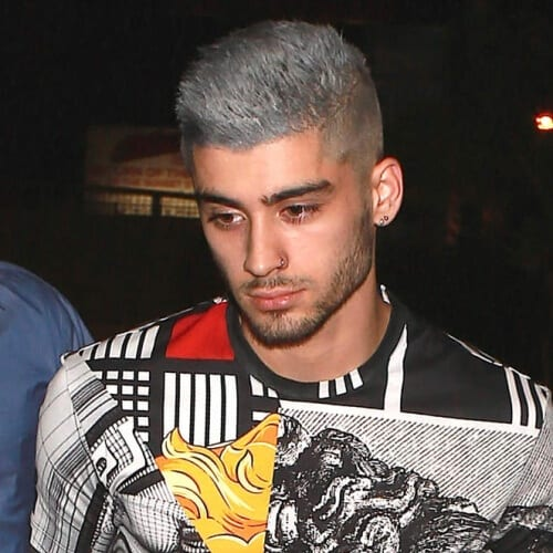 Grey Zayn Malik Haircut