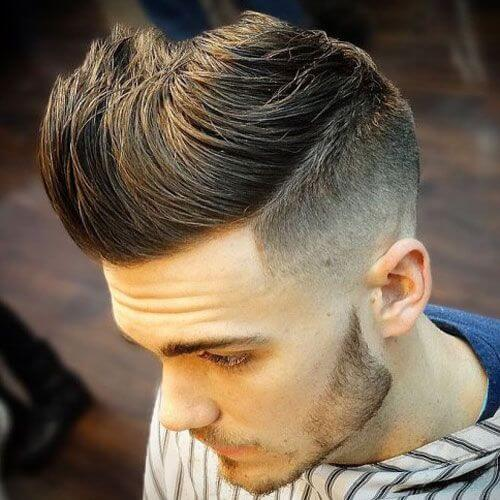 Long Quiff Temple Fade