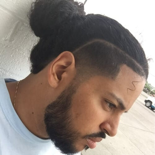 Man Bun with Line Up