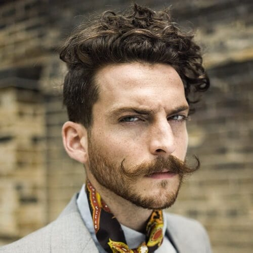 Modern Hairstyles for Men with Moustaches