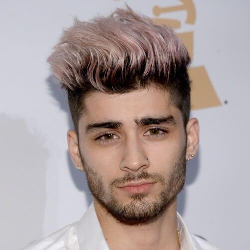 Pink Zayn Malik Haircut