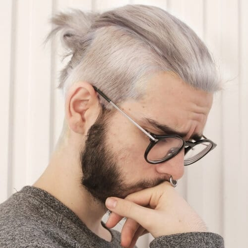 Top Knot Men's Undercut Hairstyle