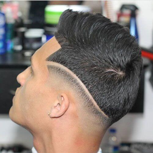Two Section Line Up Haircut
