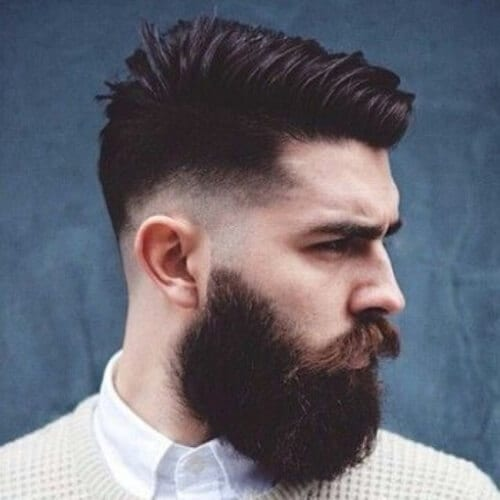 Undercut Hairstyle with Beard