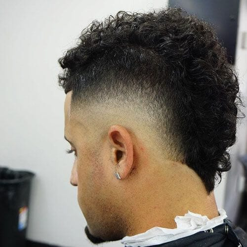 V-shaped Temp Fade Haircut