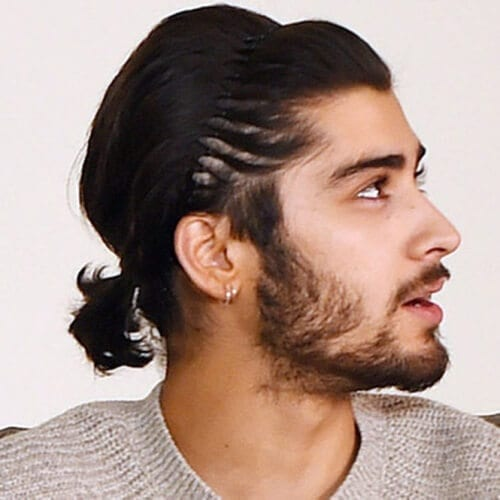 Zayn Malik Haircut with Low Ponytail