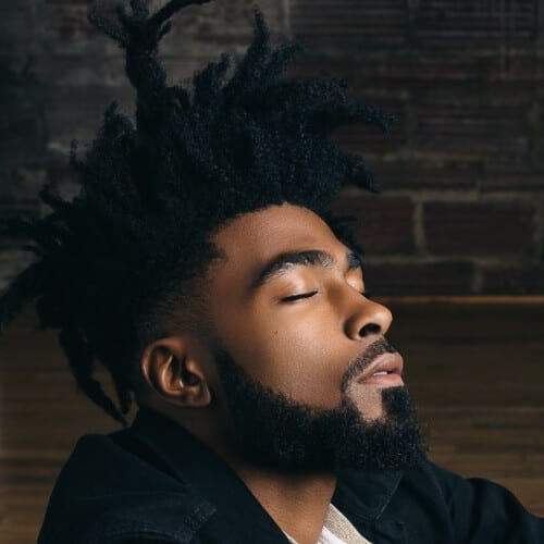 Afro Hairstyles for Men with Dreads
