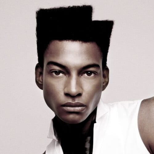 Asymmetrical Afro Hairstyles for Men