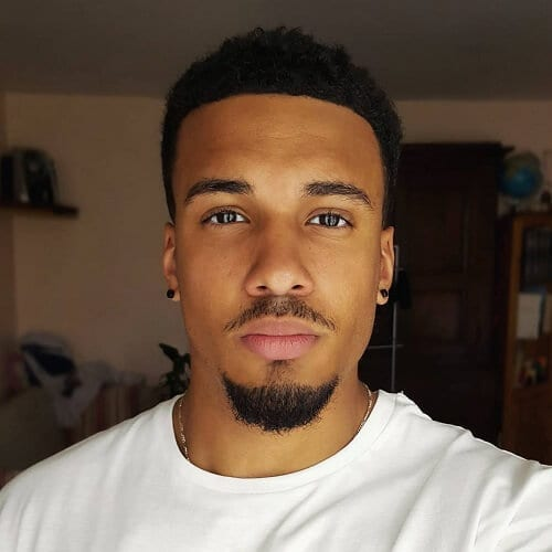 Black facial hair man style