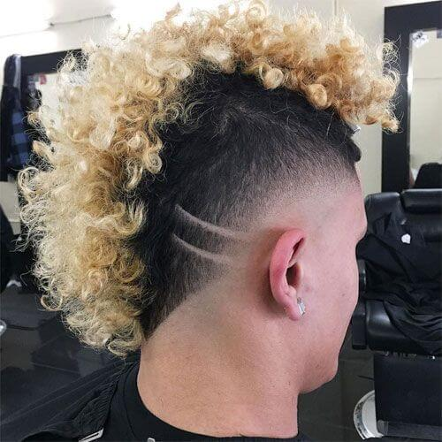Punk Hairstyles for Guys with Curly Hair