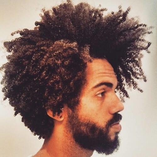 Side Part Afros