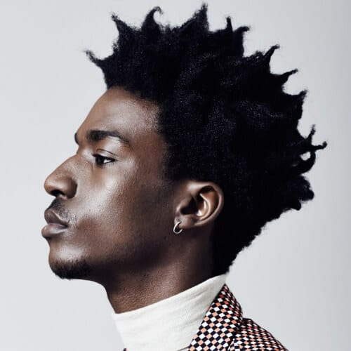 Spiky Afro Hairstyles for Men