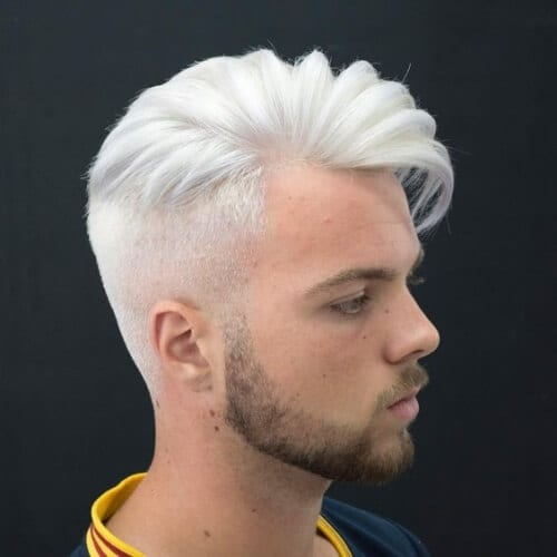 Colored and Layered Haircuts for Men