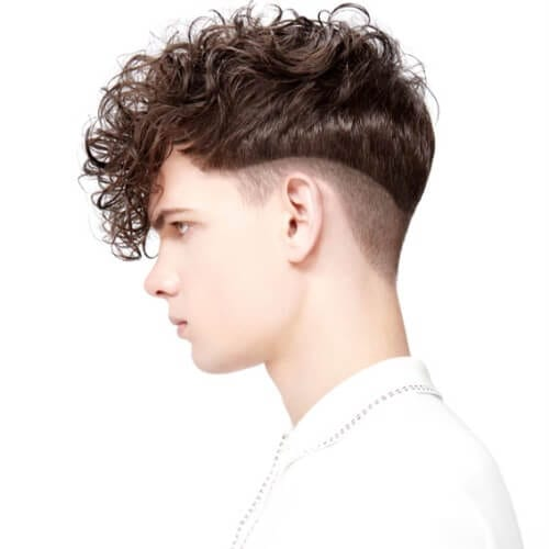 Curved Undercuts with Curls on Top