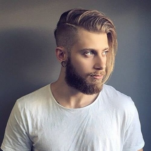 Flow Haircut with Shaved Side