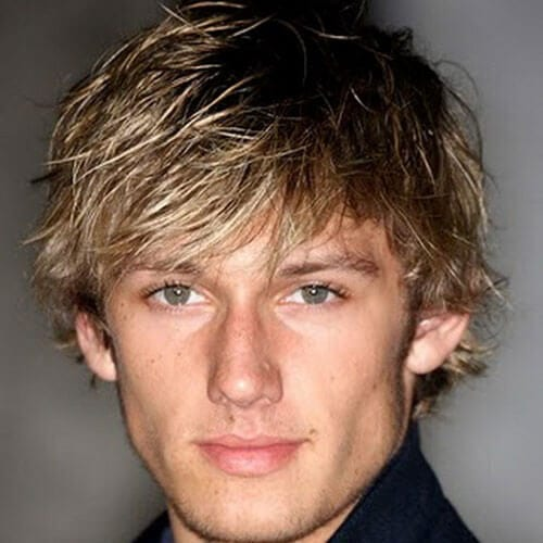 Gelled Shaggy Hairstyles For Men