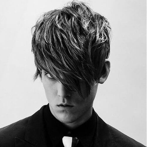 Goth Layered Haircuts for Men