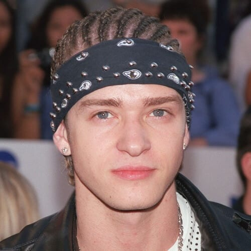 Justin Timberlake Hairstyles with Cornrows