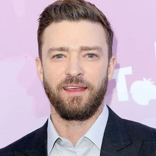 Justin Timberlake Hairstyles with Thick Beards