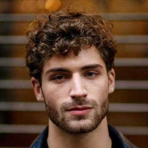 Short Curly Layered Haircuts for Men