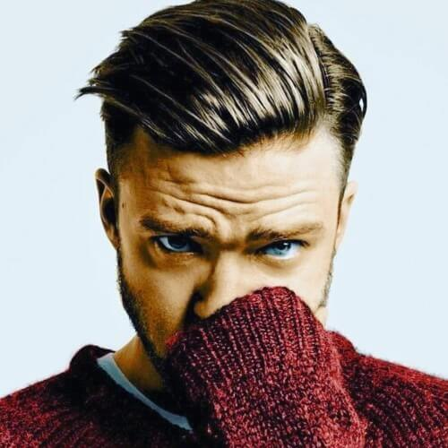 Side-slicked Justin Timberlake Hairstyles