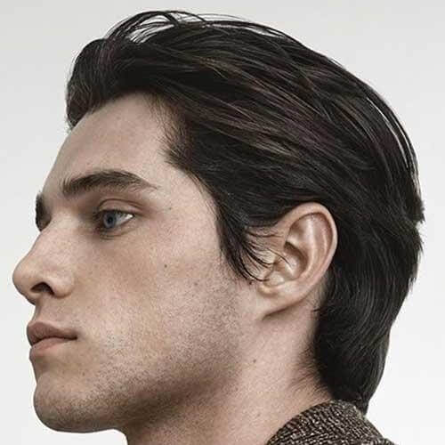 Slicked Back Layered Haircuts for Men