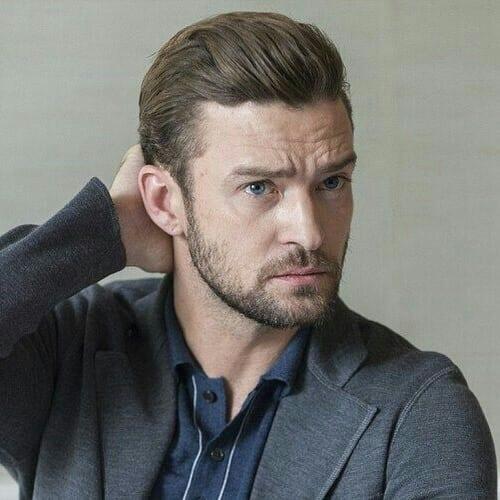 Swept Back Justin Timberlake Hairstyles
