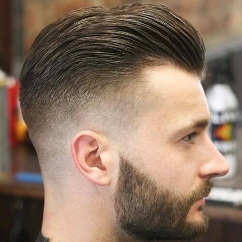 Widows Peak Hairstyles with Mid Fade
