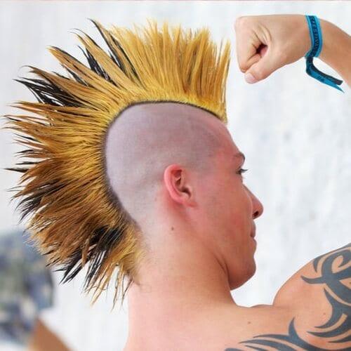 Fanned Mohawk Hairstyles
