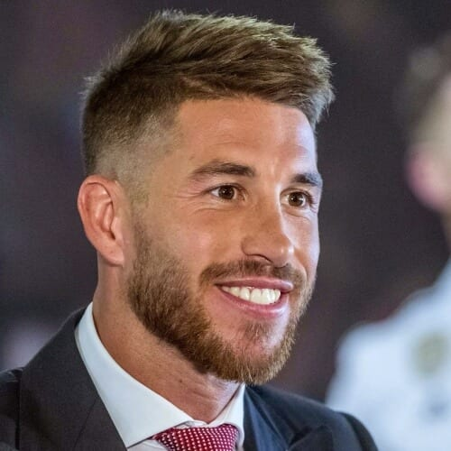 Sergio Ramos Haircut for Men with Thick Hair
