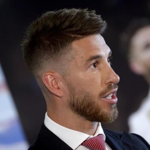 Taper Fade Sergio Ramos Haircut
