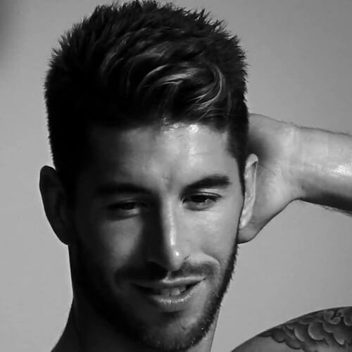 Textured Sergio Ramos Haircut