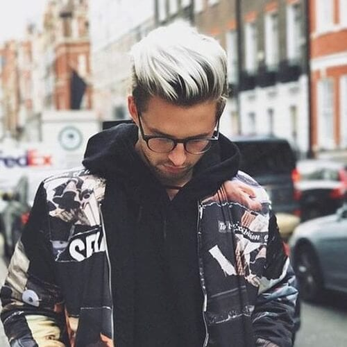 Blonde Hairstyles for Men with Dark Roots