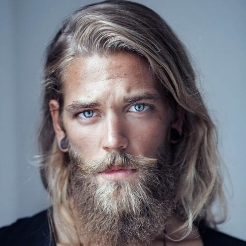 Blonde Hairstyles for Men with Thick Beards