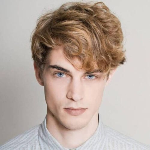 Copper Blonde Hairstyles for Men