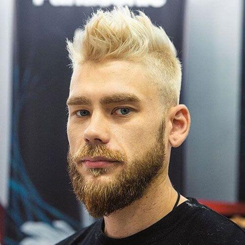 Darker Beard and Blonde Hair Styles