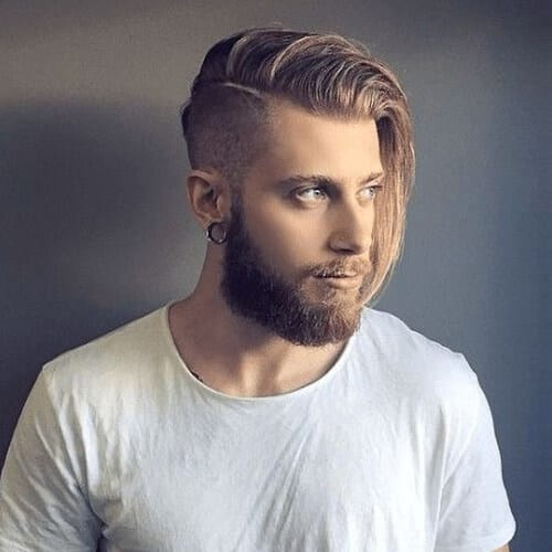 Long Blonde Hairstyles for Men with Undercuts