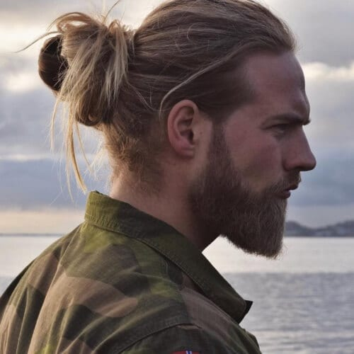 Man Bun Blonde Hairstyles For Men