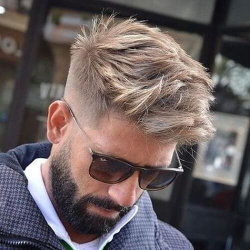Side Fade Brush Up Fringe Hairstyles