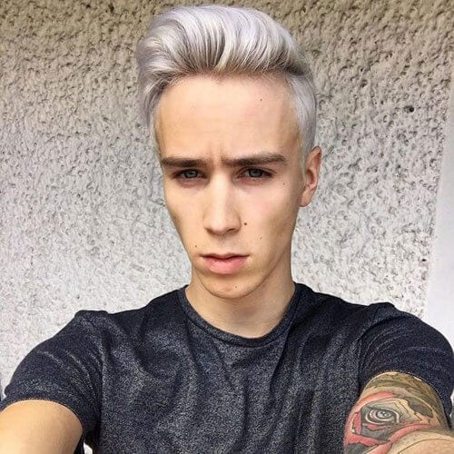 Silver Blonde Hairstyles for Men