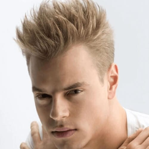 Spiky Blonde Hairstyles for Men