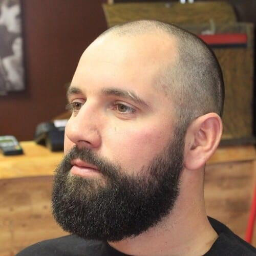 Buzz Cuts with Thick Beards