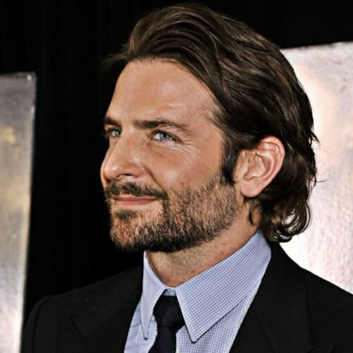 Bradley Cooper Casual Mullet Hairstyle
