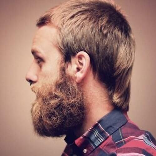 Discrete Mullet with Full Beard