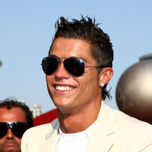 Cristiano Ronaldo Gelled Mullet Hairstyle