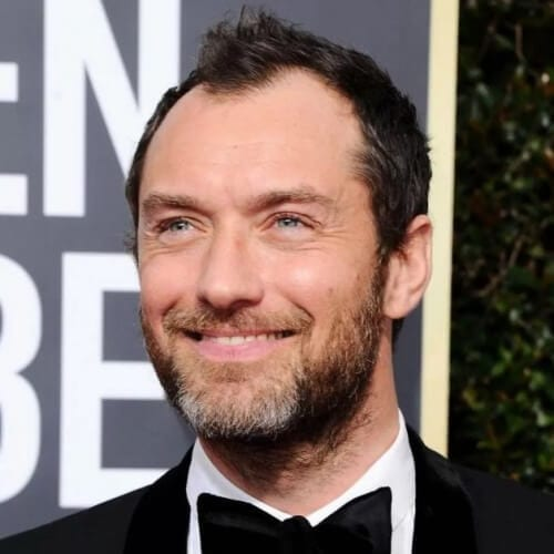 Jude Law Hairstyles for Receding Hairlines
