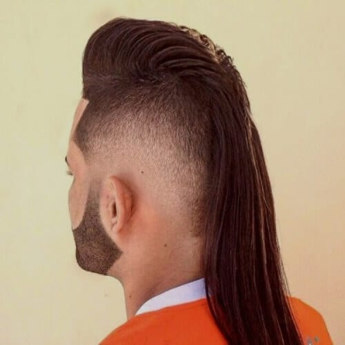 Long Mullet Haircut with Faux Hawk
