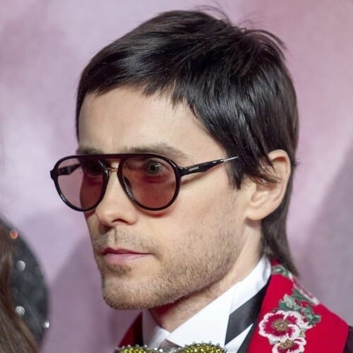 Jared Leto Short Mullet Hairstyle