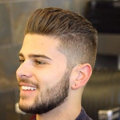 Stylish Backwards Taper Faux Hawk